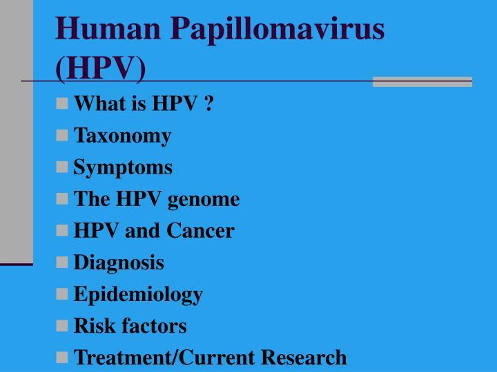 papillomaviridae taxonomy