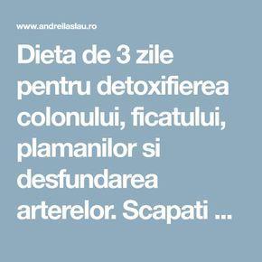dieta de detoxifiere a ficatului și colonului