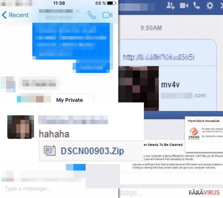 virusi pe facebook