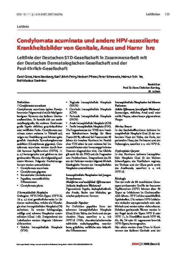 condylomata acuminata bei kindern