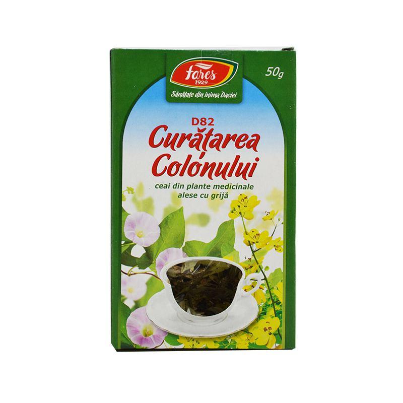 Ceai pentru curatarea colonului d83 20plicuri Fares