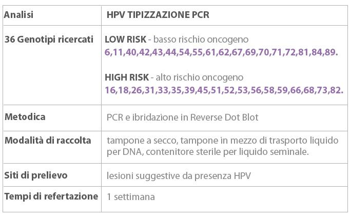 papilloma virus ceppo alto rischio