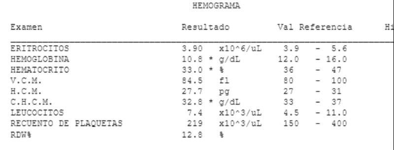 anemia 7 de hemoglobina