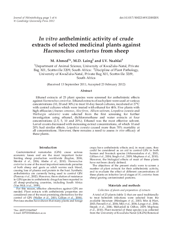 anthelmintic property definition unde parazitul