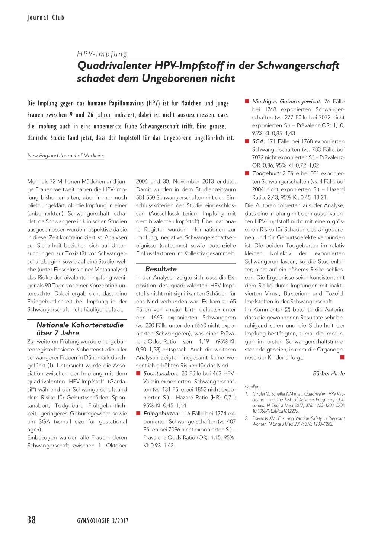 HPV-Impfung. Schutz vor Gebarmutterhalskrebs?!