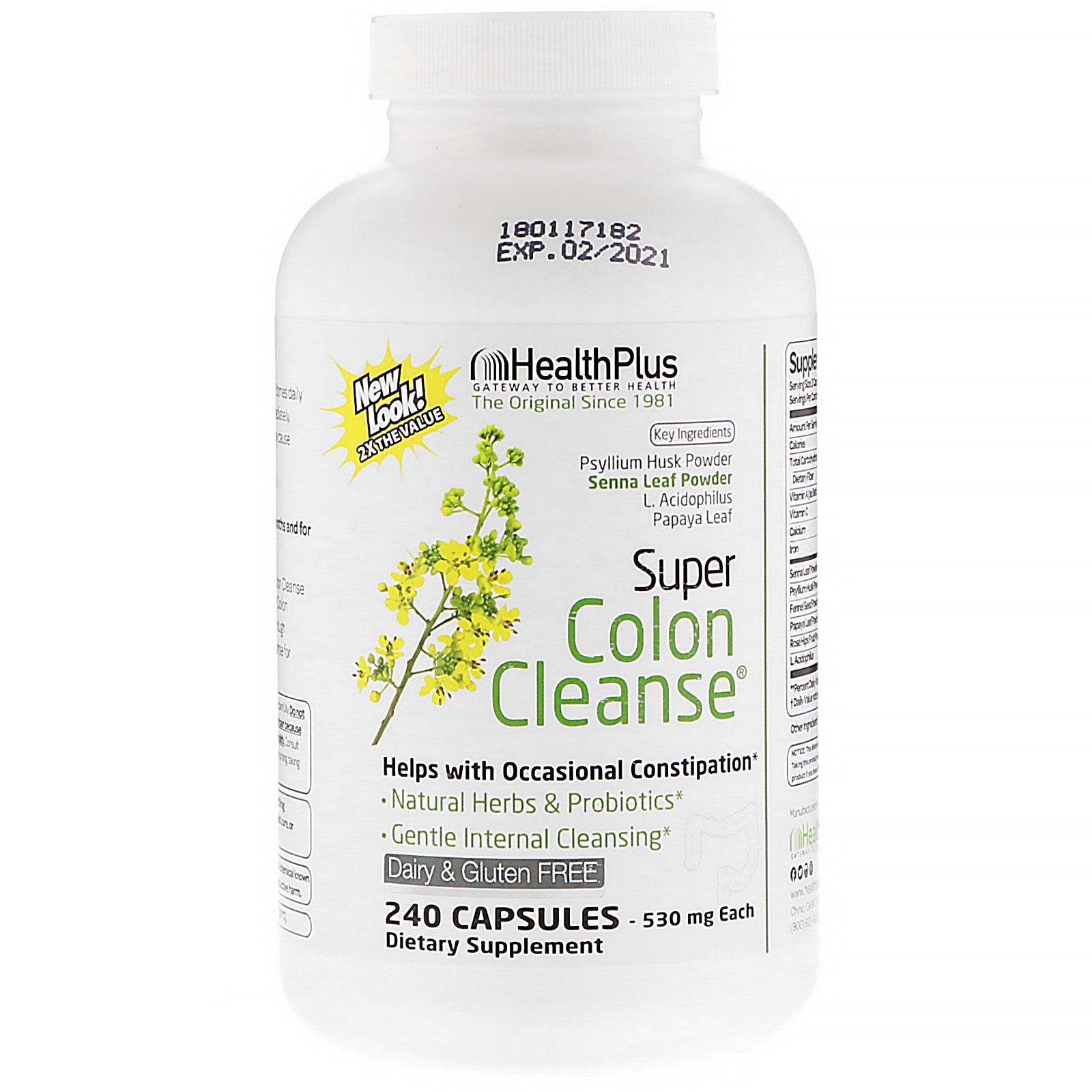 Super Colon Cleanse - Life Impulse, 30 capsule (Detoxifiere) - csrb.ro