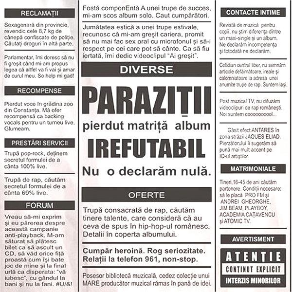 CD Parazitii - Slalom Printre Cretini - Libris