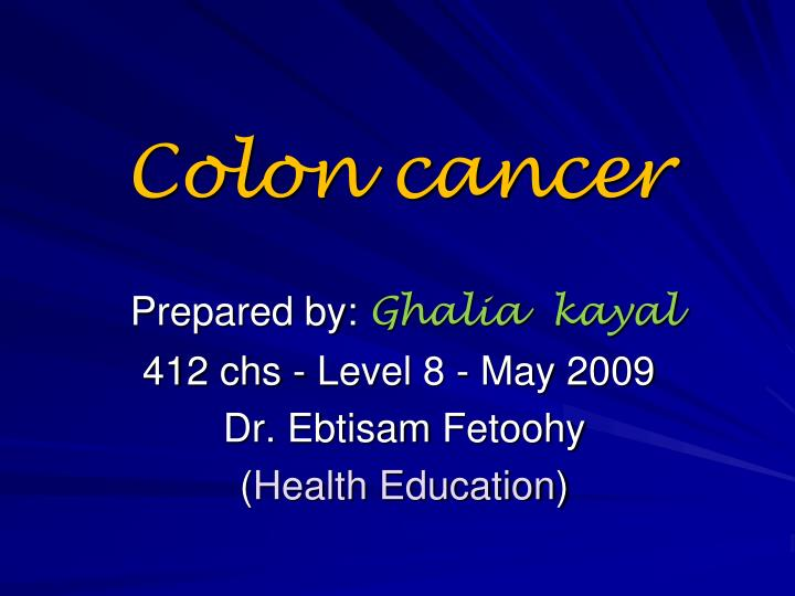 cancer colon ppt