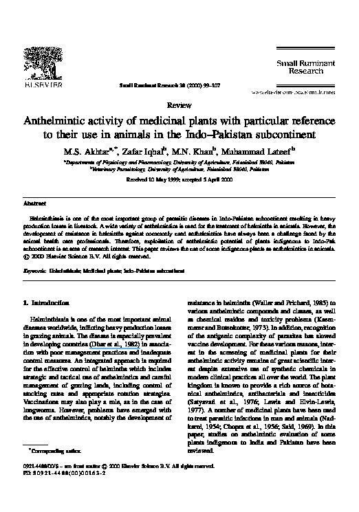 anthelmintic activity of cucurbita maxima
