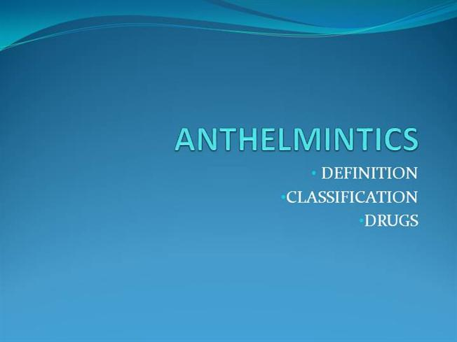 anthelmintic definition in medical