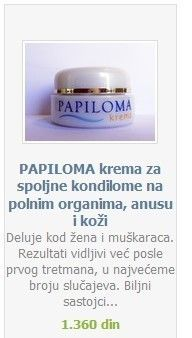 krema protiv papilloma