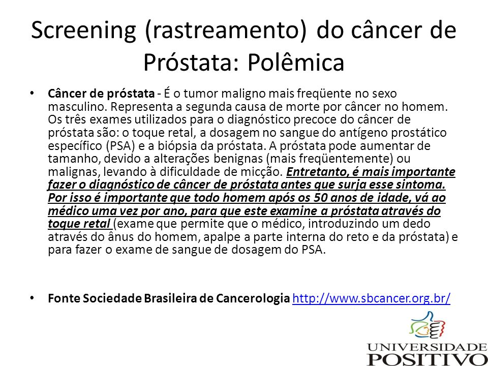 cancer prostata rastreamento