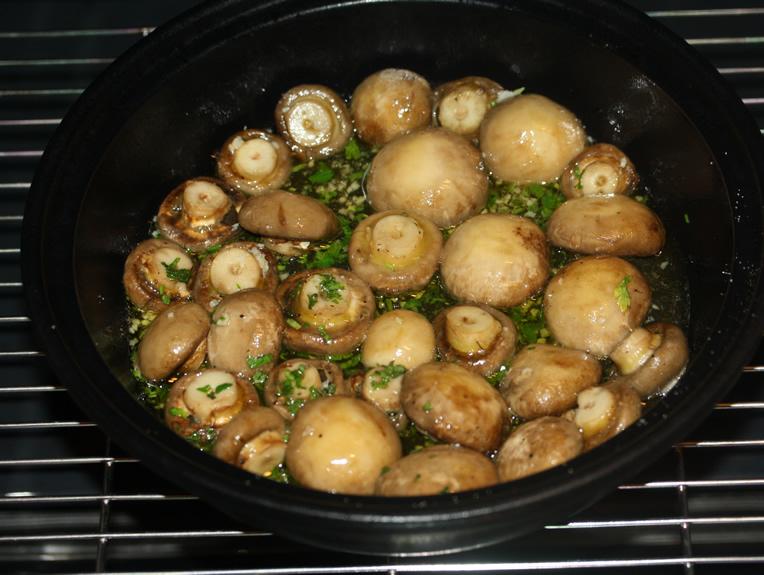 ciuperci simple la cuptor