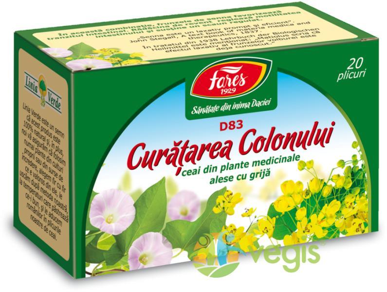 Ceai Curatarea Colonului, 20 plicuri, Fares | csrb.ro Farmacie
