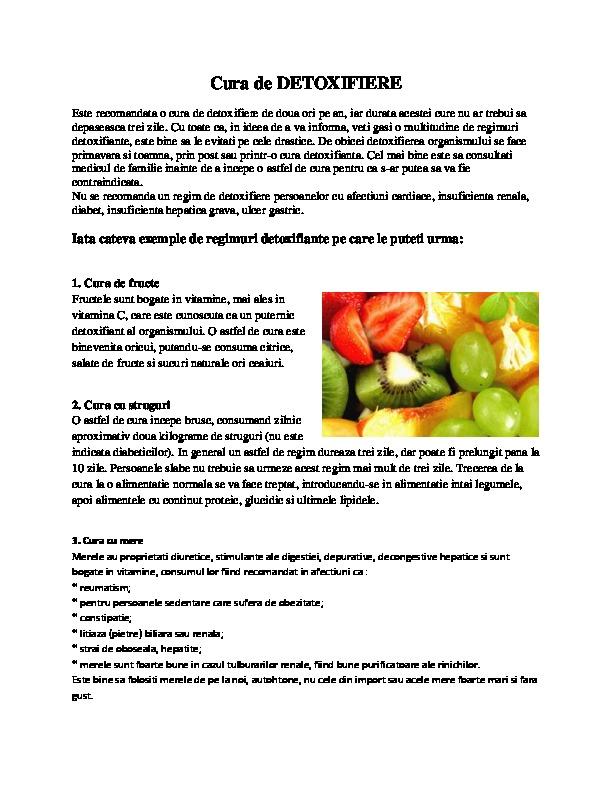 Detoxifierea si importanta ei in sanatate | csrb.ro