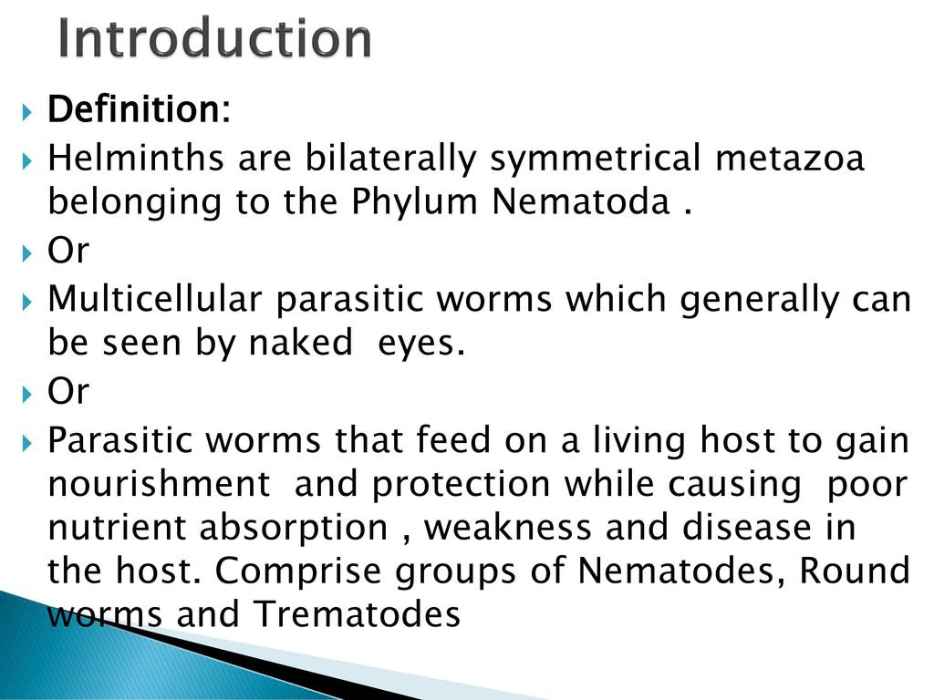 helminth infection definition