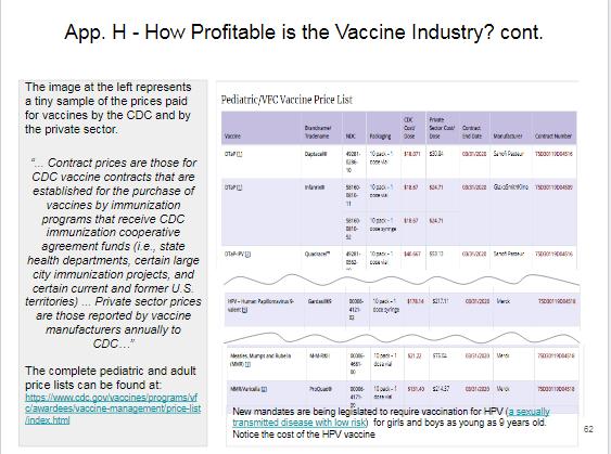 human papillomavirus vaccine claims