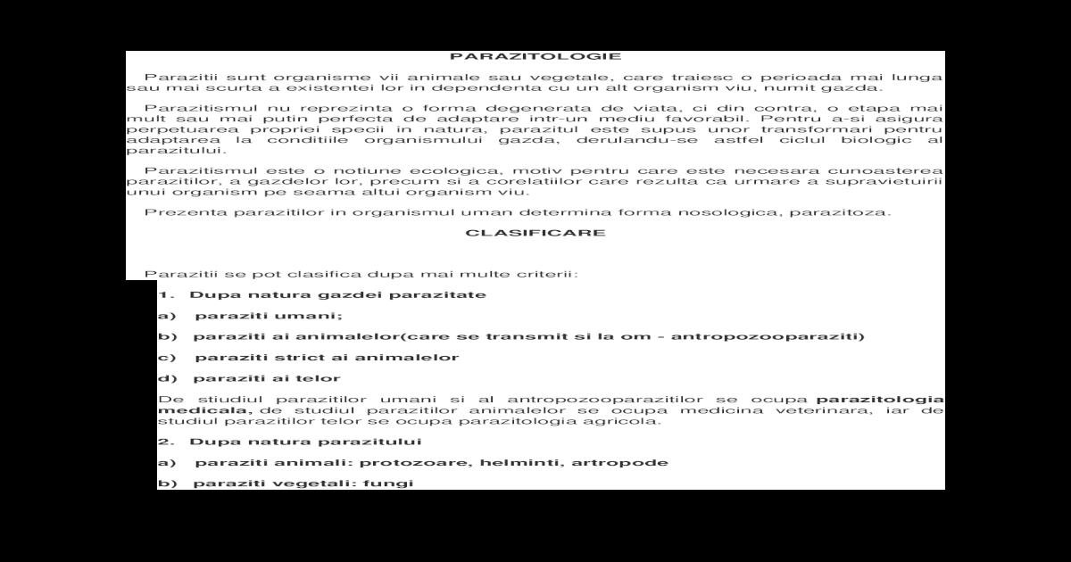 infecție cu enterobioză