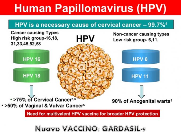 papilloma virus vaccino 9 ceppi