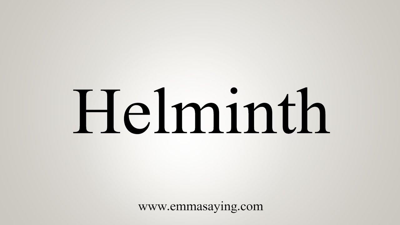 what does word helminth mean viermi în pastile de îngrijire a copilului