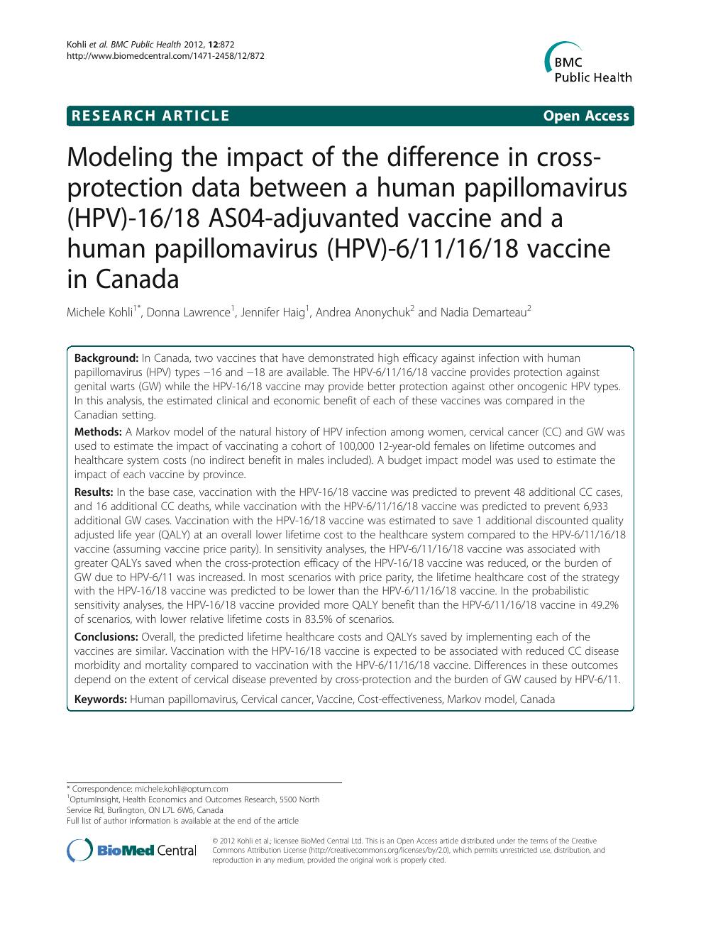 Human papillomavirus vaccine monograph, Paraziți coreeni