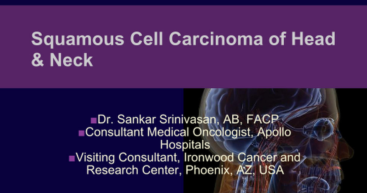 hpv in head and neck cancer ppt
