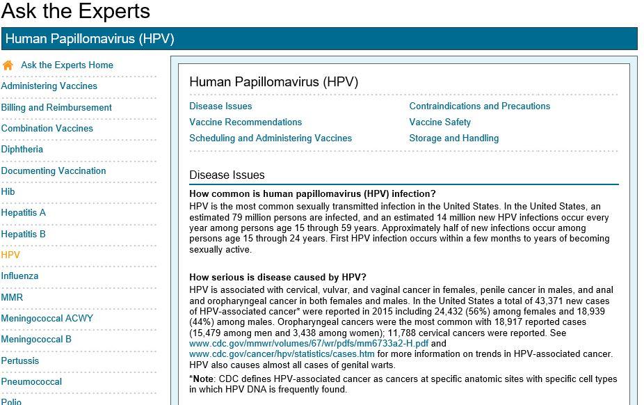 Human papillomavirus vaccine spc,