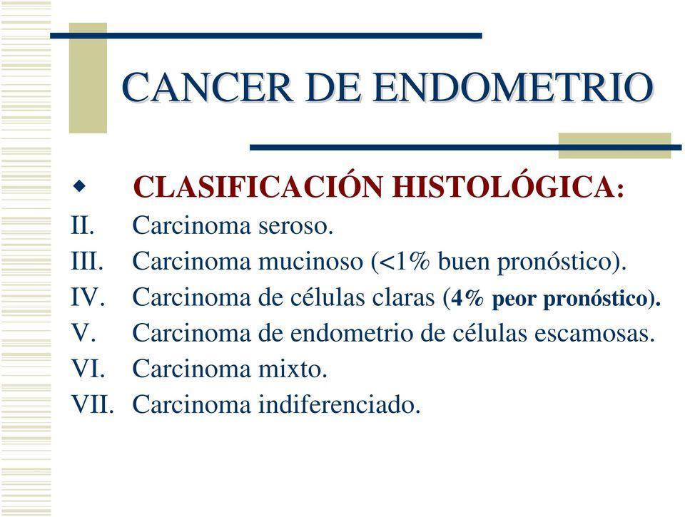 Cancer endometrial de peor pronostico. Meniu de navigare