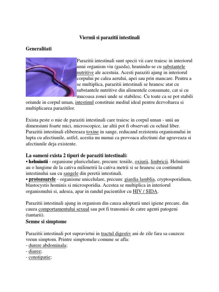 paraziți violet și tratament