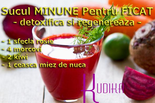 Suc natural pentru detoxifierea ficatului
