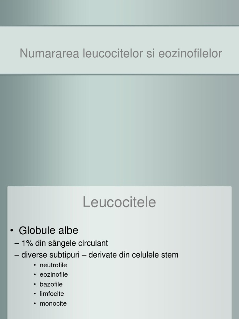 Leucocite in sange si urina - Ce arata valorile mari si mici