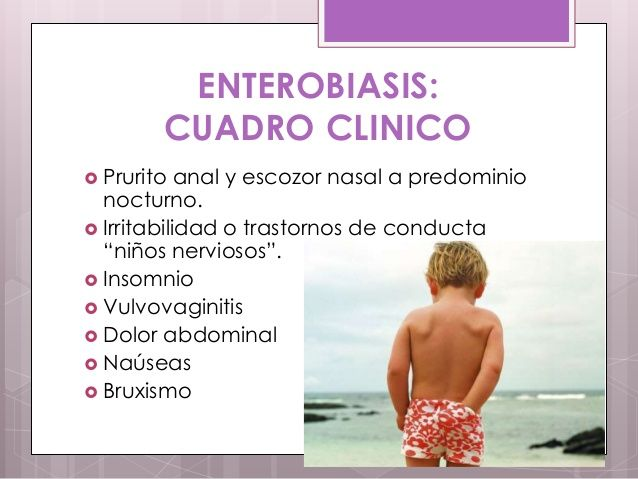 Enterobiasis cuadro clinico - csrb.ro