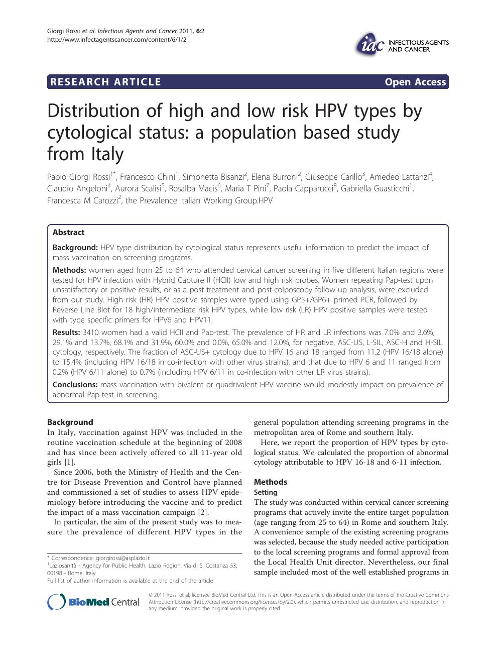 hpv high risk la gi