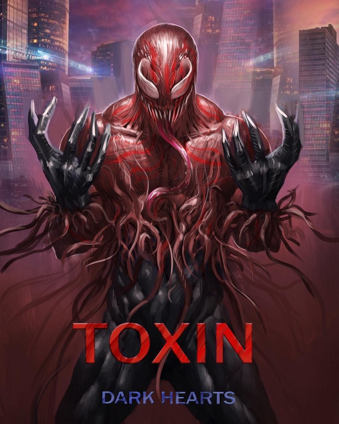 Carnage Venom Deadpool Toxin Metallic Red Marvel Big Figure For Custom Lego