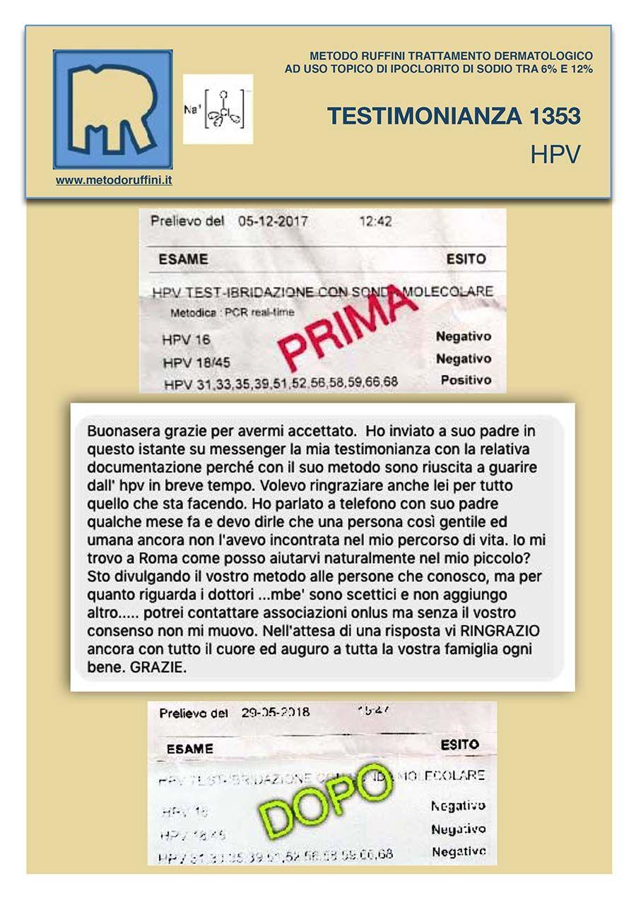 Metodo ruffini e papilloma virus Hpv virus and laryngeal cancer